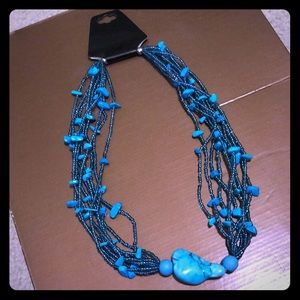 Jewelry - Turquoise blue beaded necklace FREE GIFT WITH $15